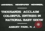 Image of National Baby Show Asbury Park New Jersey USA, 1931, second 3 stock footage video 65675058055