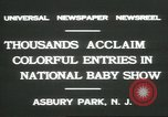 Image of National Baby Show Asbury Park New Jersey USA, 1931, second 4 stock footage video 65675058055