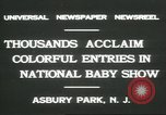 Image of National Baby Show Asbury Park New Jersey USA, 1931, second 5 stock footage video 65675058055