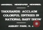 Image of National Baby Show Asbury Park New Jersey USA, 1931, second 7 stock footage video 65675058055