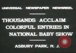 Image of National Baby Show Asbury Park New Jersey USA, 1931, second 8 stock footage video 65675058055