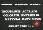 Image of National Baby Show Asbury Park New Jersey USA, 1931, second 9 stock footage video 65675058055