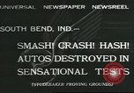 Image of automobile tests South Bend Indiana USA, 1932, second 1 stock footage video 65675058057