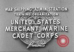 Image of Merchant Marine Cadet Corps United States USA, 1942, second 4 stock footage video 65675058094