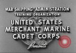 Image of Merchant Marine Cadet Corps United States USA, 1942, second 5 stock footage video 65675058094