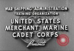 Image of Merchant Marine Cadet Corps United States USA, 1942, second 6 stock footage video 65675058094