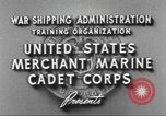 Image of Merchant Marine Cadet Corps United States USA, 1942, second 7 stock footage video 65675058094