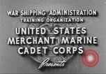 Image of Merchant Marine Cadet Corps United States USA, 1942, second 10 stock footage video 65675058094