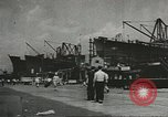 Image of Officers of U.S.Coast Guard Marine Inspection Division at work United States USA, 1944, second 1 stock footage video 65675058111
