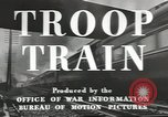 Image of railroad transportation system United States USA, 1943, second 10 stock footage video 65675058131