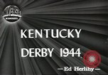 Image of Kentucky Derby Louisville Kentucky USA, 1944, second 7 stock footage video 65675058151