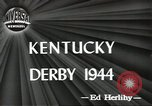 Image of Kentucky Derby Louisville Kentucky USA, 1944, second 8 stock footage video 65675058151