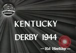 Image of Kentucky Derby Louisville Kentucky USA, 1944, second 9 stock footage video 65675058151
