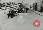 Image of running bulls Pamplona Spain, 1953, second 3 stock footage video 65675058246