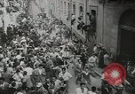 Image of running bulls Pamplona Spain, 1953, second 7 stock footage video 65675058246