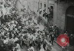Image of running bulls Pamplona Spain, 1953, second 8 stock footage video 65675058246