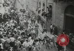 Image of running bulls Pamplona Spain, 1953, second 9 stock footage video 65675058246