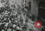 Image of running bulls Pamplona Spain, 1953, second 10 stock footage video 65675058246