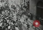 Image of running bulls Pamplona Spain, 1953, second 11 stock footage video 65675058246