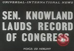 Image of William F Knowland Washington DC USA, 1953, second 2 stock footage video 65675058253