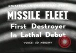 Image of guided missile fleet Pacific Ocean, 1958, second 1 stock footage video 65675058258