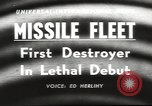 Image of guided missile fleet Pacific Ocean, 1958, second 4 stock footage video 65675058258