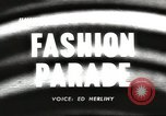 Image of fashion parade United States USA, 1958, second 1 stock footage video 65675058262