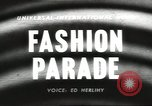 Image of fashion parade United States USA, 1958, second 5 stock footage video 65675058262