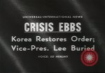 Image of Syngman Rhee Seoul Korea, 1960, second 2 stock footage video 65675058265