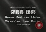 Image of Syngman Rhee Seoul Korea, 1960, second 3 stock footage video 65675058265