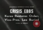 Image of Syngman Rhee Seoul Korea, 1960, second 4 stock footage video 65675058265