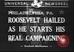 Image of Franklin D Roosevelt Philadelphia Pennsylvania USA, 1940, second 1 stock footage video 65675058279