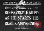 Image of Franklin D Roosevelt Philadelphia Pennsylvania USA, 1940, second 2 stock footage video 65675058279