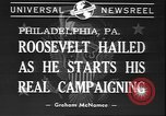 Image of Franklin D Roosevelt Philadelphia Pennsylvania USA, 1940, second 3 stock footage video 65675058279