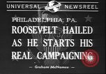 Image of Franklin D Roosevelt Philadelphia Pennsylvania USA, 1940, second 4 stock footage video 65675058279