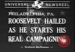 Image of Franklin D Roosevelt Philadelphia Pennsylvania USA, 1940, second 5 stock footage video 65675058279