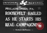 Image of Franklin D Roosevelt Philadelphia Pennsylvania USA, 1940, second 7 stock footage video 65675058279