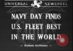 Image of Navy Day United States USA, 1940, second 1 stock footage video 65675058280
