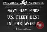 Image of Navy Day United States USA, 1940, second 6 stock footage video 65675058280