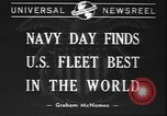 Image of Navy Day United States USA, 1940, second 7 stock footage video 65675058280