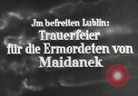 Image of monument Lublin Poland, 1944, second 2 stock footage video 65675058296