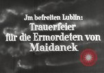Image of monument Lublin Poland, 1944, second 7 stock footage video 65675058296