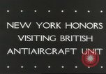 Image of British anti aircraft men New York United States USA, 1943, second 2 stock footage video 65675058428