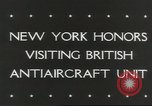 Image of British anti aircraft men New York United States USA, 1943, second 3 stock footage video 65675058428