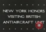 Image of British anti aircraft men New York United States USA, 1943, second 4 stock footage video 65675058428