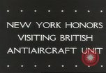Image of British anti aircraft men New York United States USA, 1943, second 5 stock footage video 65675058428