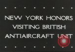 Image of British anti aircraft men New York United States USA, 1943, second 6 stock footage video 65675058428