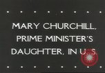 Image of Mary Churchill United States USA, 1943, second 3 stock footage video 65675058429