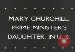Image of Mary Churchill United States USA, 1943, second 5 stock footage video 65675058429