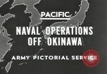 Image of United States Navy Bunker Hill cruiser Okinawa Ryukyu Islands, 1945, second 4 stock footage video 65675058493